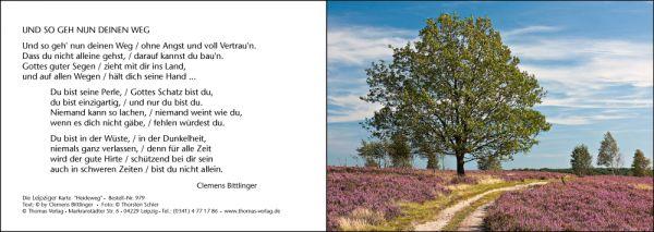 Karte - Und so geh nun Deinen Weg (Motiv: Heideweg)
