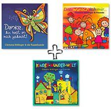 """CD-Paket - 3 Kinderlieder CDs: """"Das wünsch ich mir"""", """"Kinder-Wunder-Welt"""" & """"Danke, du hast an mich"""