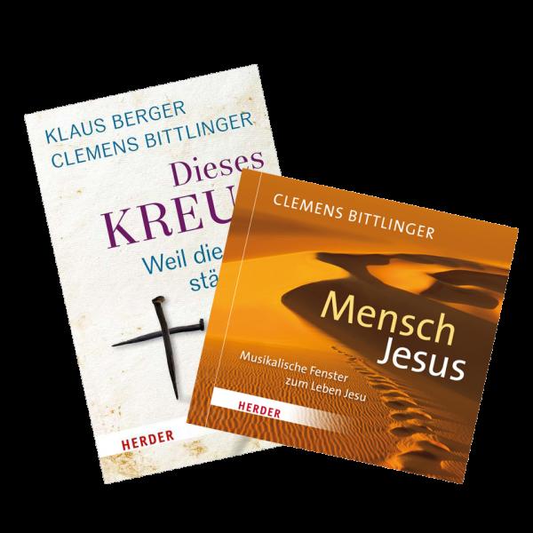 """Paket - CD """"Mensch Jesus"""" und Buch """"Dieses Kreuz"""""""